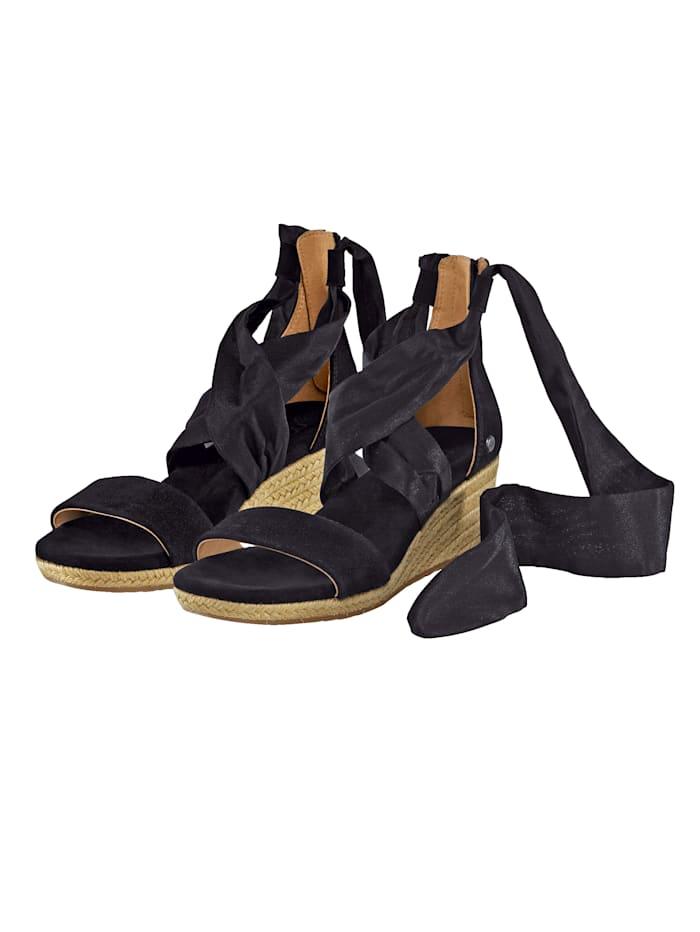 UGG Sandalette mit Band zum Schnüren, Schwarz