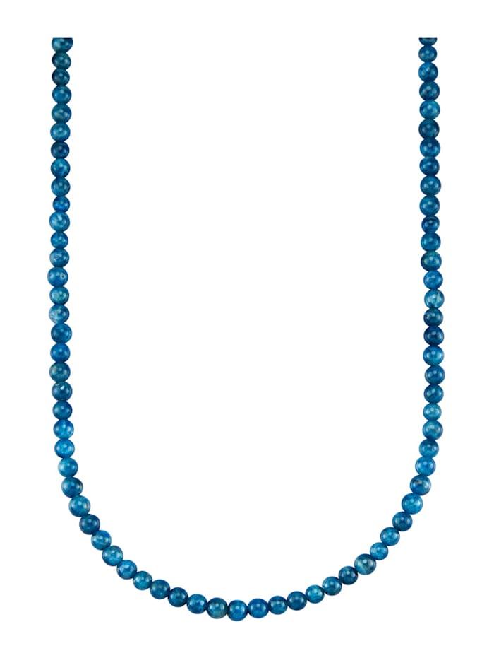 Halsband med apatit, Blå