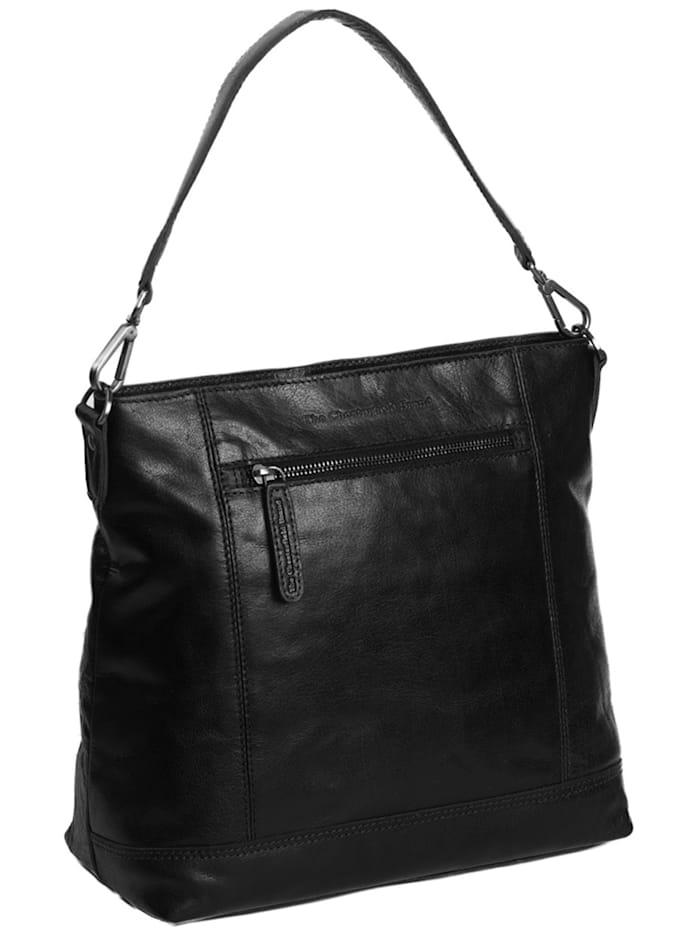 The Chesterfield Brand Antique Buff Annic Schultertasche Leder 30 cm, black