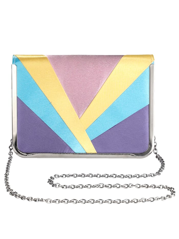 Picard Clutch in farbiger Satinkombination, multi