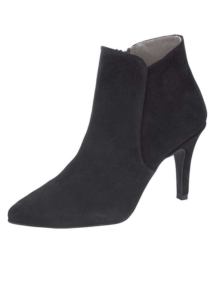 Ankle boots made from premium suede leather, Black
