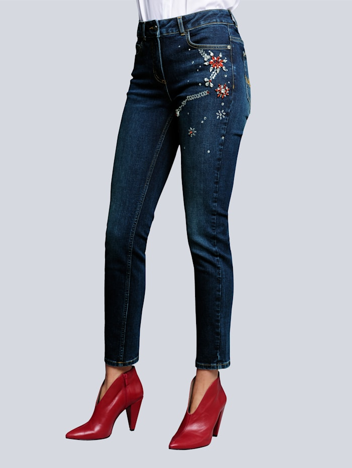 Alba Moda Jeans in klassischer 5-Pocket Form, Dark blue