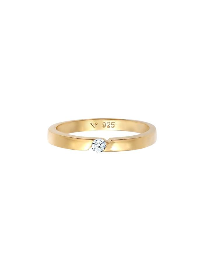 Ring Verlobungsring Diamant (0.06 Ct.) 925 Silber