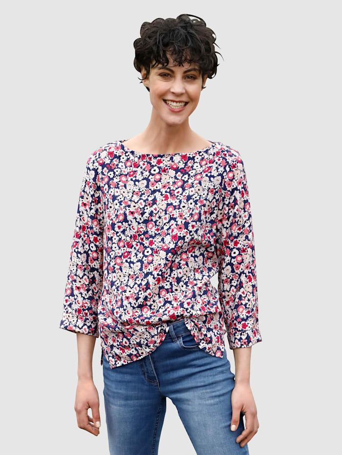 Dress In Bluse mit schönem Blumendruck, Cyclam