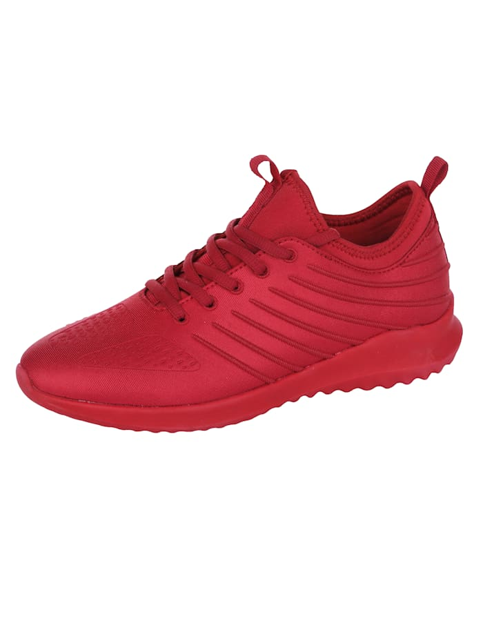 Priority Sneaker in Satin-Optik, Rot