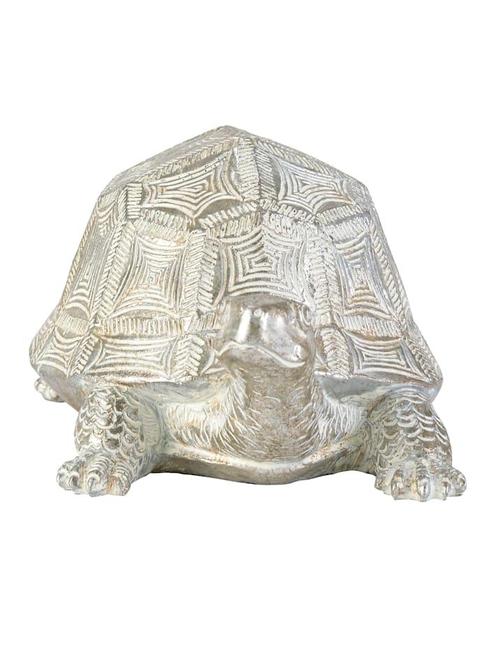 IMPRESSIONEN living Deko-Schildkröte, silberfarben