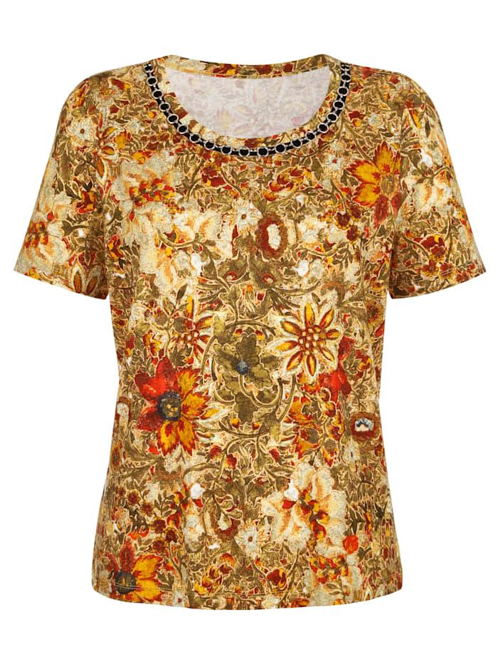 Shirt in modischem Blumendessin