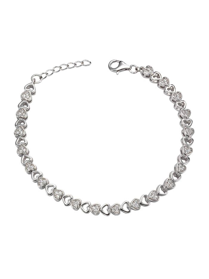 Celesta Armschmuck 925/- Sterling Silber Zirkonia 925/- Sterling Silber Zirkonia 19cm Glänzend, weiß