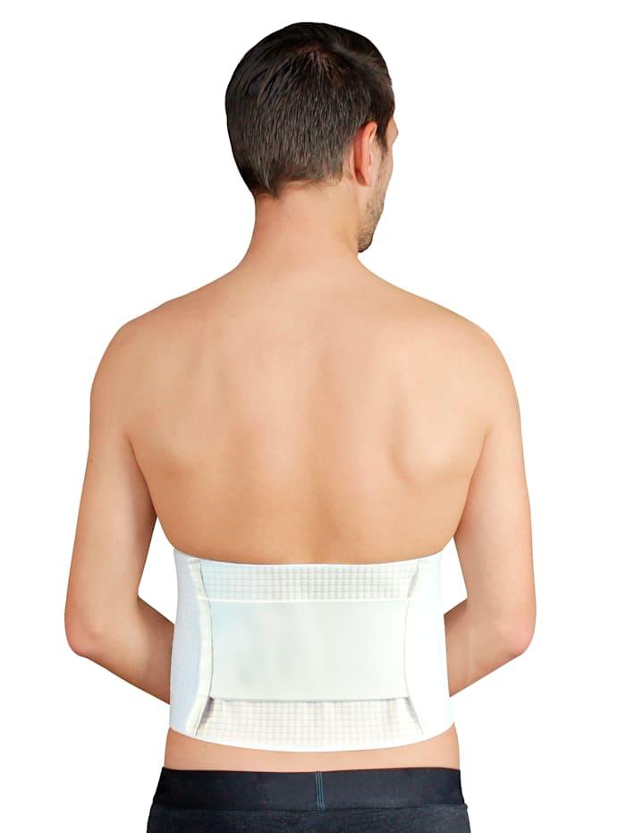 Hydas Temperaturreglerande stödbandage för rygg samt handledsstöd på köpet, vit