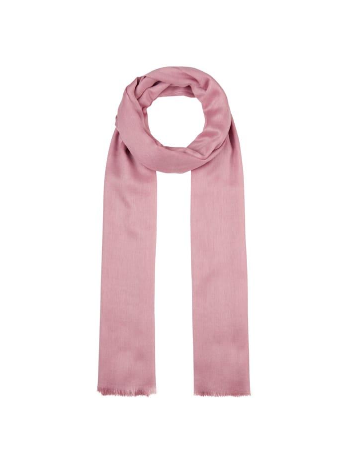 Codello XL-Schal aus Modal und Wolle, dark rose