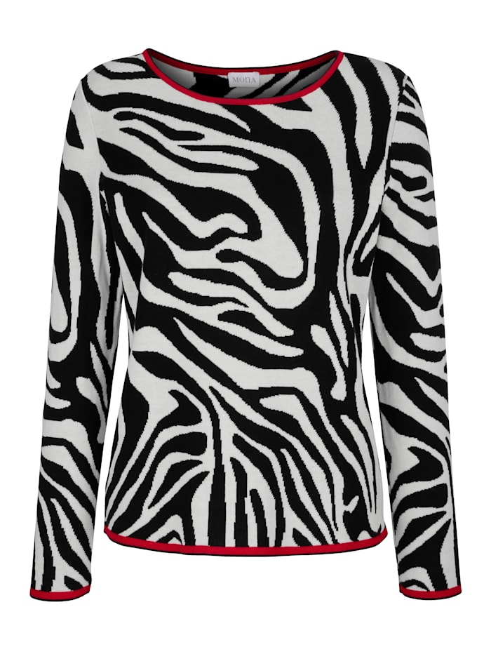 Pullover in Animal-Jacquard