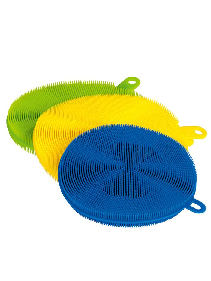 3-dielna súprava silikónových špongií CLEANmaxx