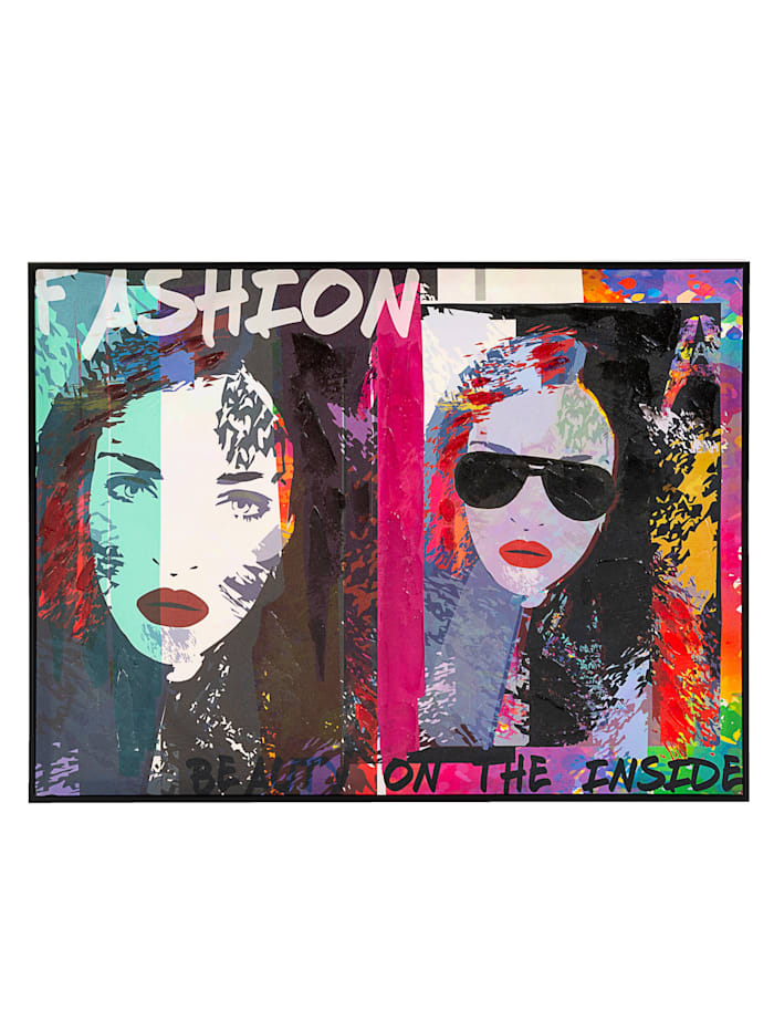 IMPRESSIONEN living Image encadrée, Pop Art, Multicolore