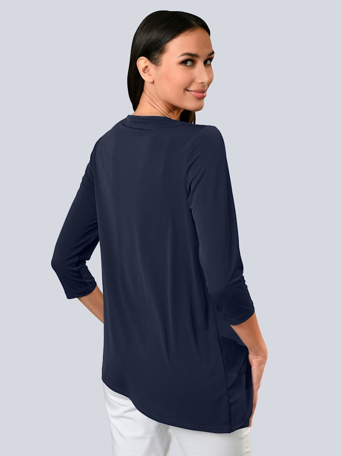 Shirt met diagonale lagen voor