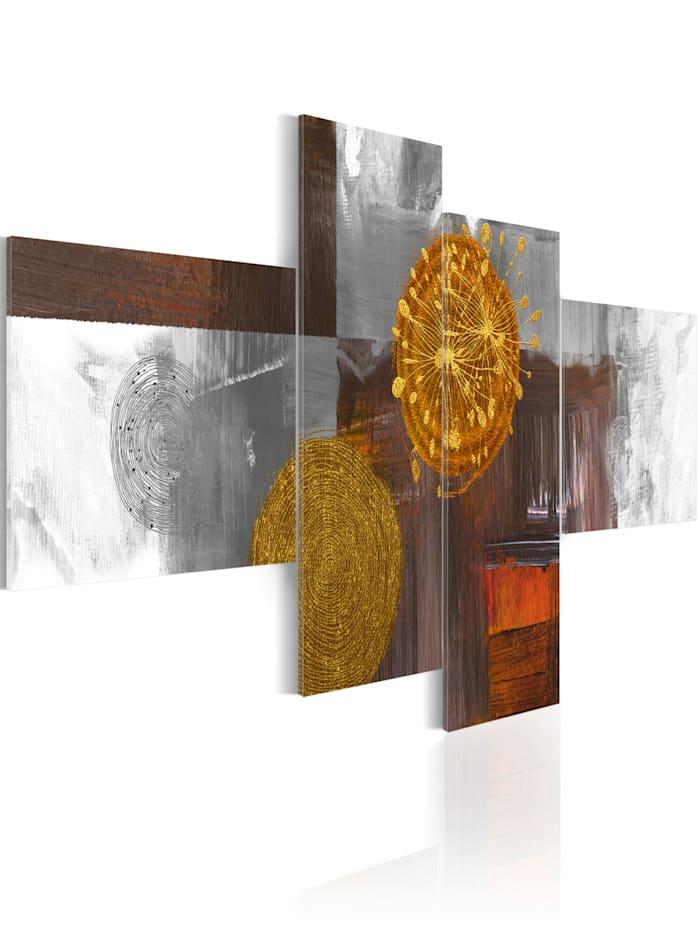 artgeist Wandbild Sun on walk, Braun,Weiß,Gold,Grau,Orange