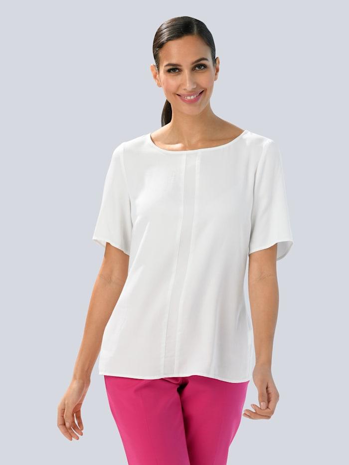 Alba Moda Bluse aus satinierter Viskose, Weiß