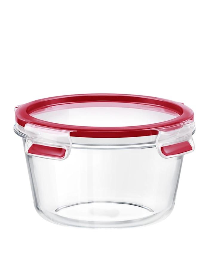 EMSA Glas Frischhaltedose rund Clip   Close Glas, Transparent, Rot