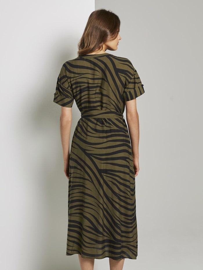 Maxikleid im Zebra-Muster