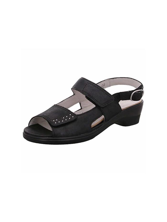 Waldläufer Sandale Sandale, schwarz