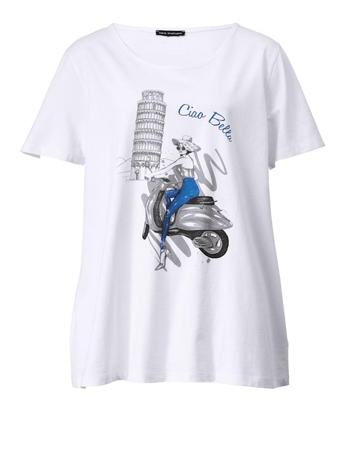 T-shirt à motif placé