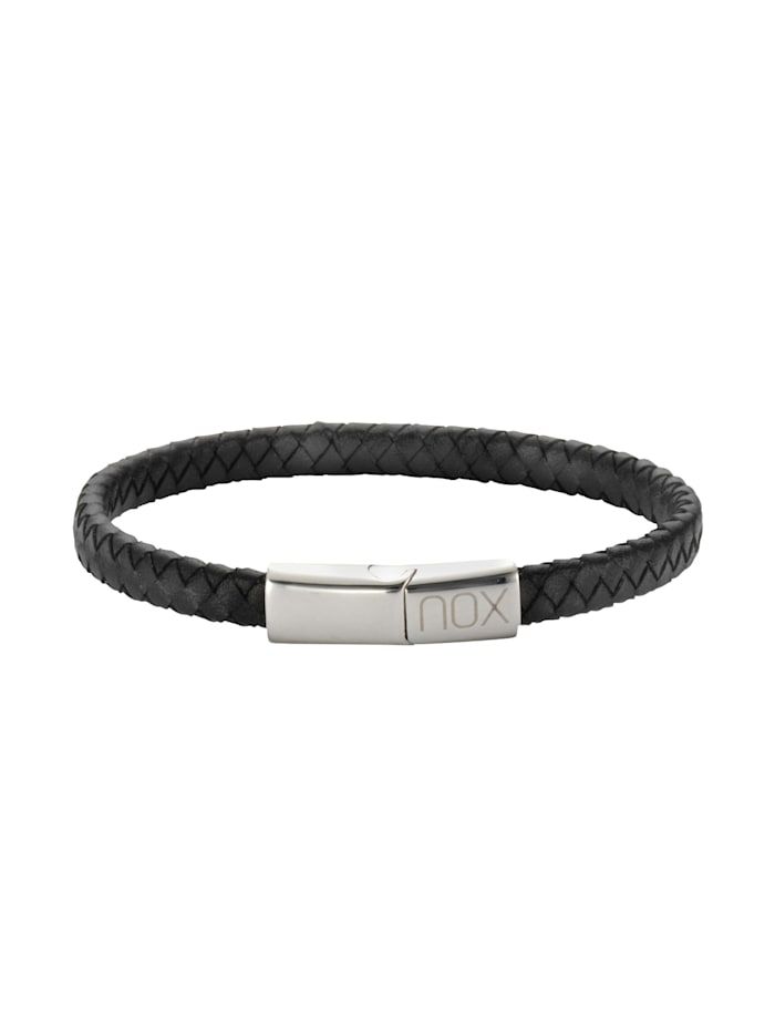 nox Armband Edelstahl 21,5cm Glänzend, schwarz