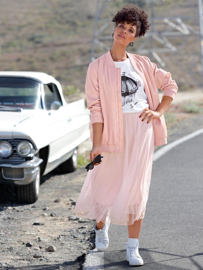 Angel of Style Meshrock in modischer Länge, Rosé