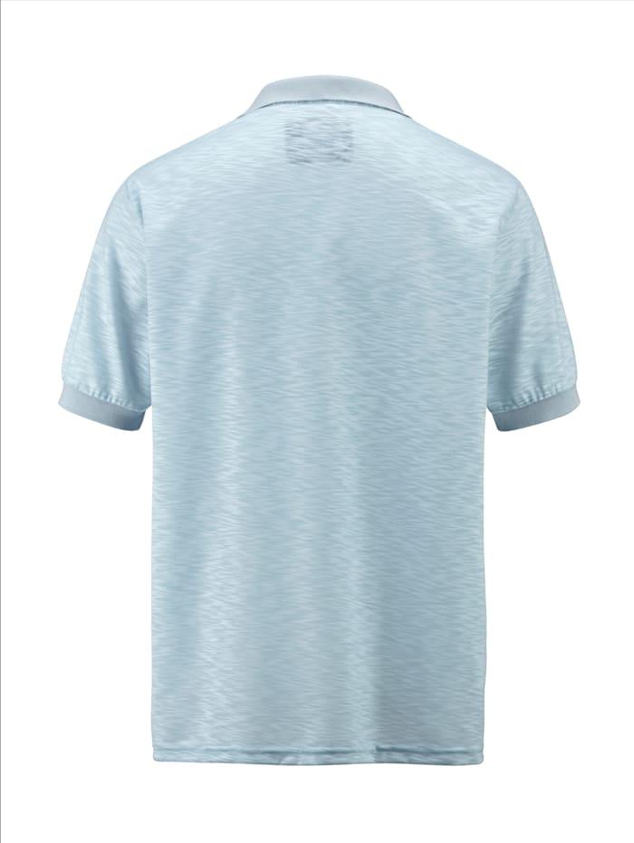 Poloshirt in zweifarbiger, unregelmäßiger Struktur