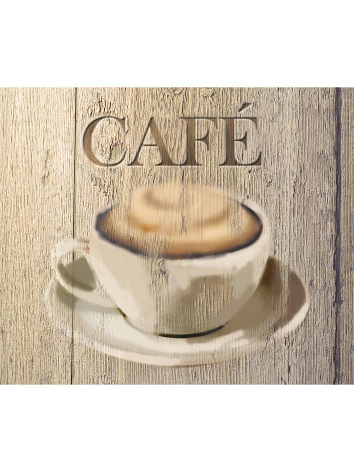 Wenko Glasrückwand Café 60 x 50 cm, Platte: Design