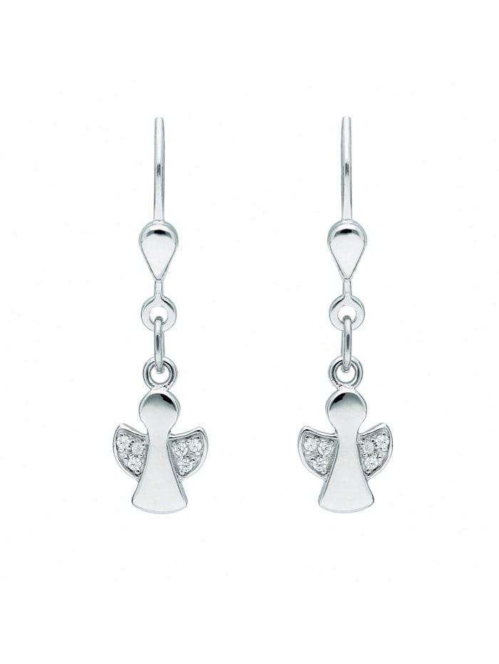 1001 Diamonds Damen Silberschmuck 925 Silber Ohrringe / Ohrhänger mit Zirkonia, silber