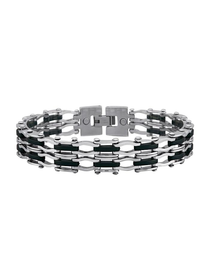 Armband mit Edelstahl, Silberfarben