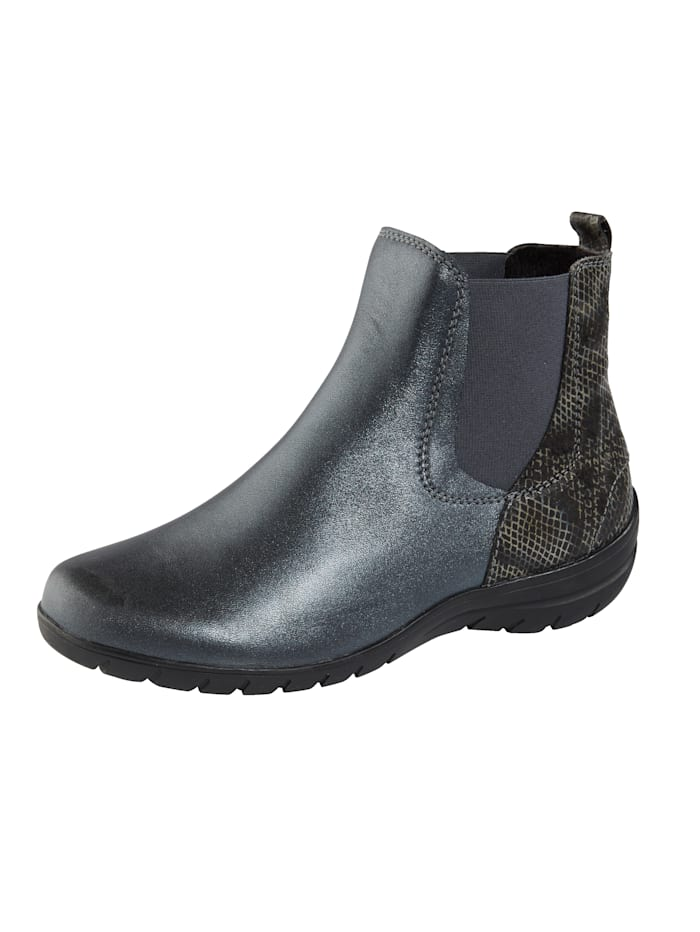 Naturläufer Ankle boots with elasticated panels, Grey