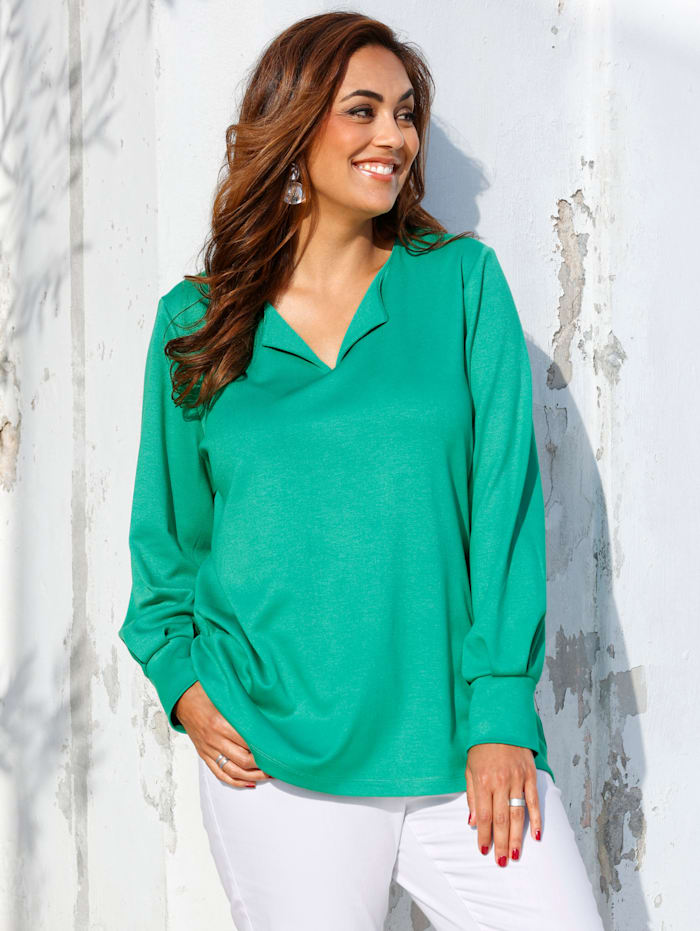 MIAMODA Shirt aus weich fließendem Material, Grün