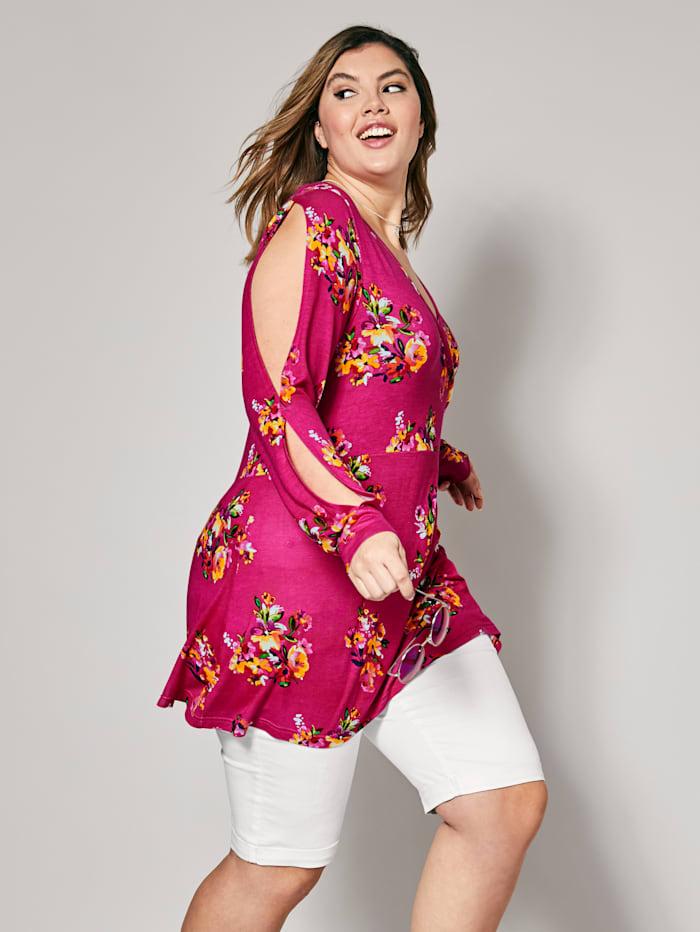 Jersey-Tunika mit Blumen-Print