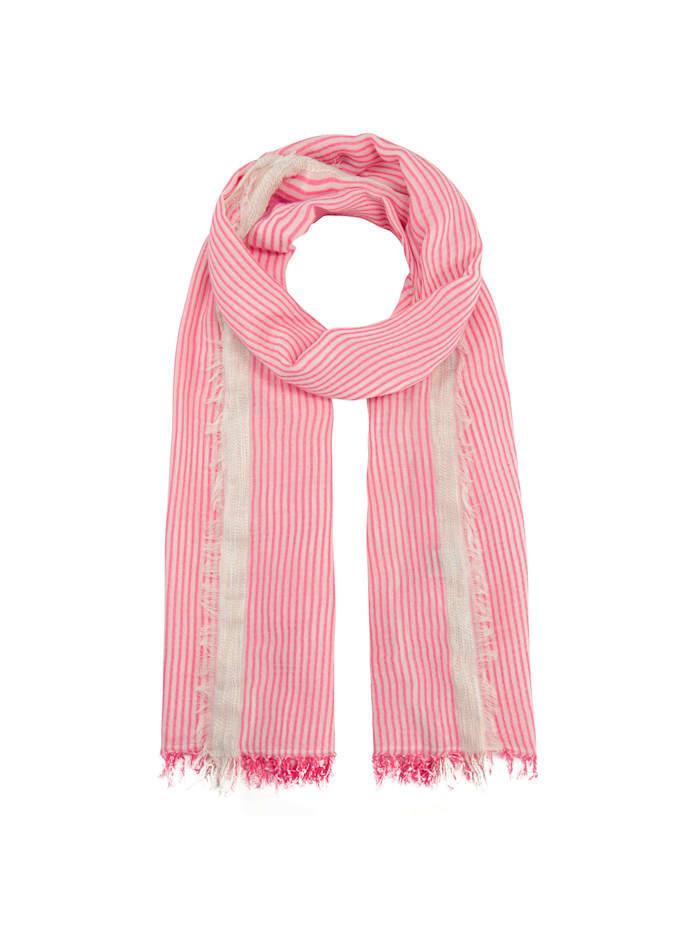 Codello XL-Schal im frischen Streifen-Design, pink