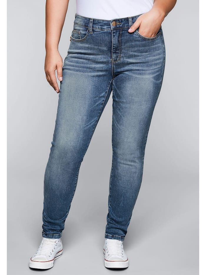 Sheego Jeans Skinny mit Bodyforming-Effekt, blue Denim