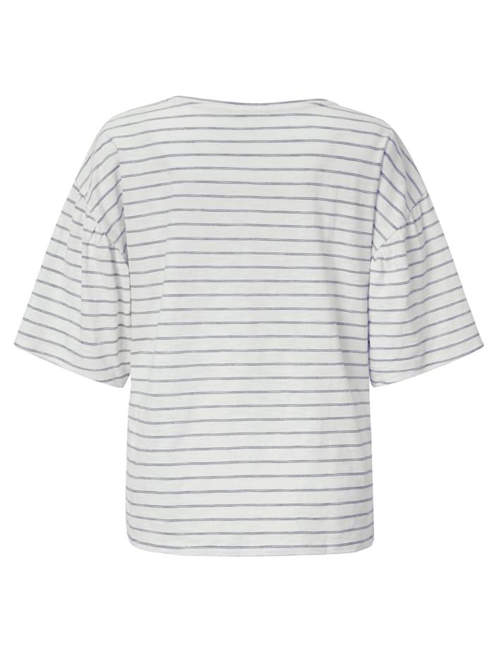 T-Shirt mit Ringel und Stickerei
