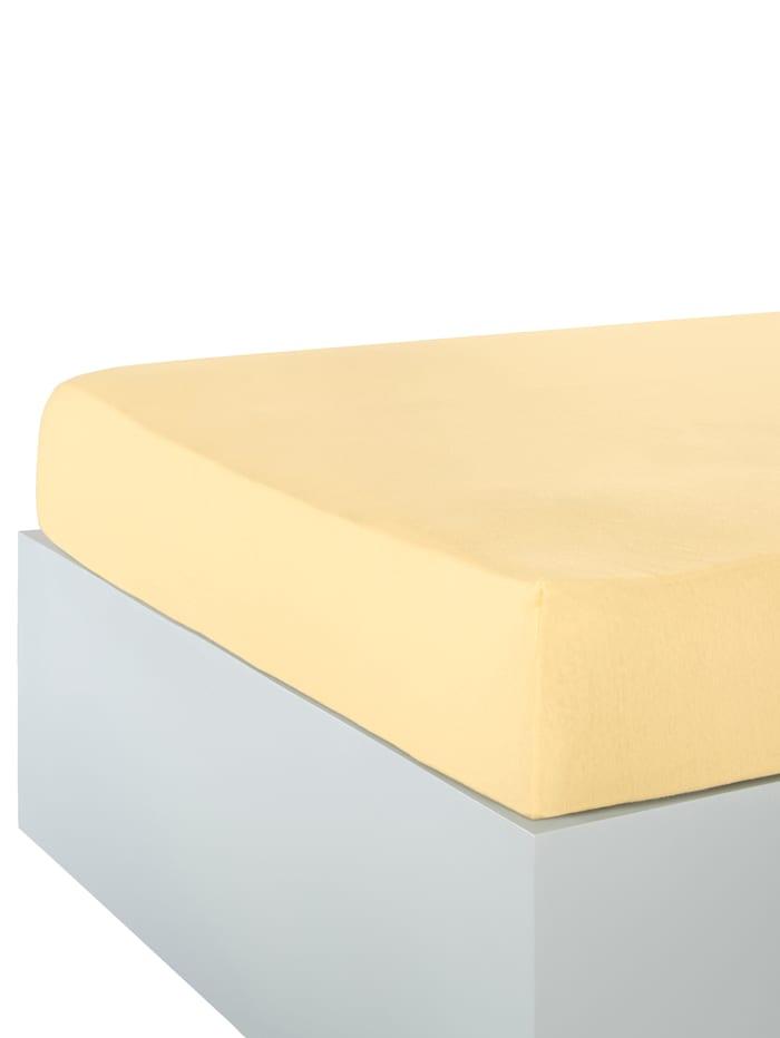 Webschatz Jersey Spannbettlaken, vanille
