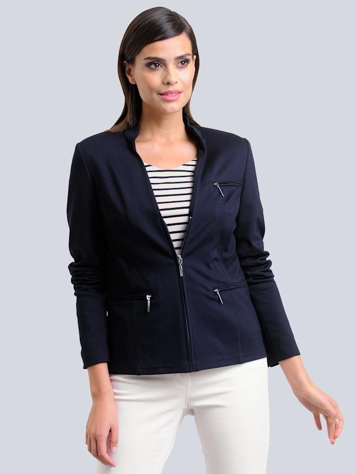 Alba Moda Blazer van comfortabele jersey, Zwart