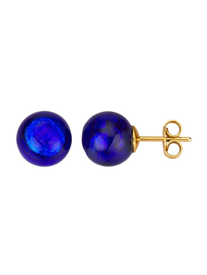 Muranoglas-Ohrstecker, Blau