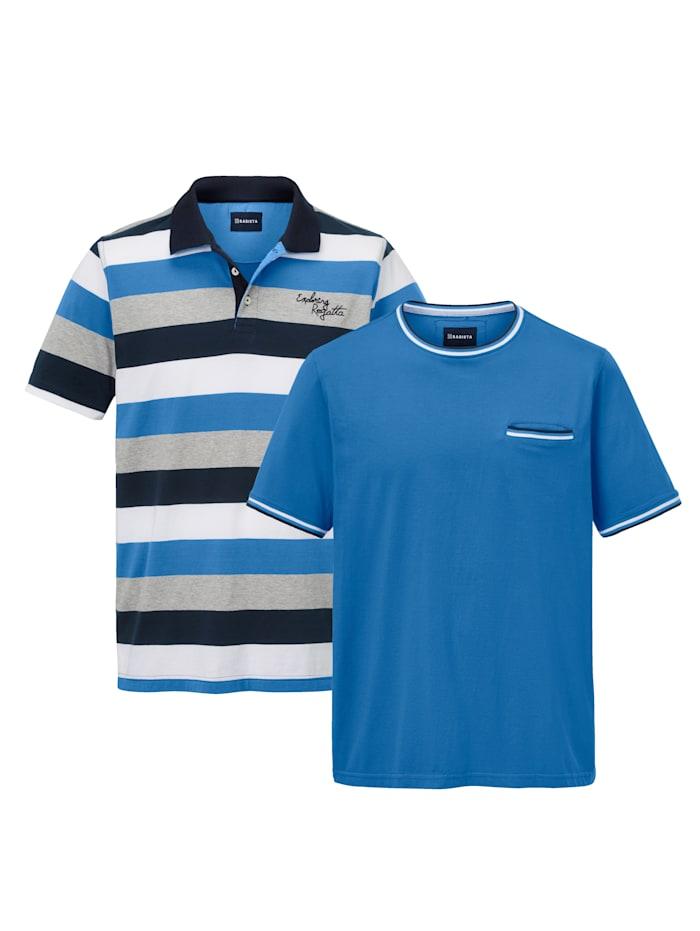 Ensemble T-shirt et polo en pur coton