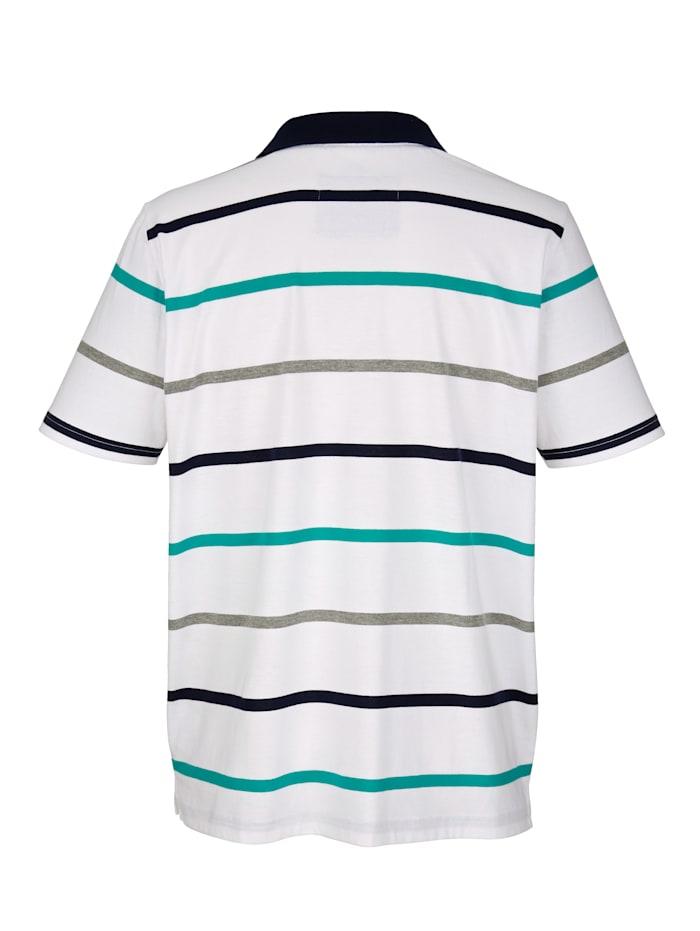 Polo à motif rayé tissé-teint