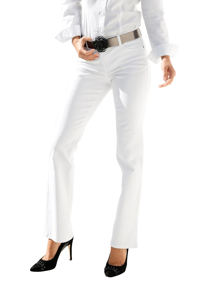 AMY VERMONT Jeans in 5-pocketmodel, Wit