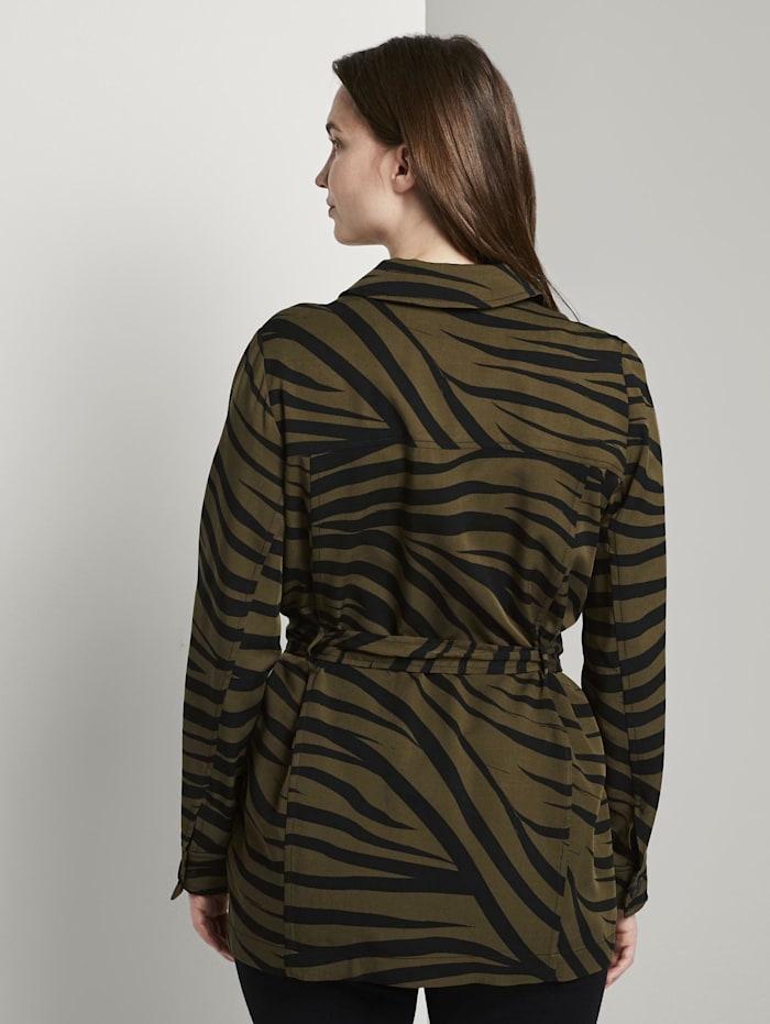 Blazerjacke im Zebra-Muster