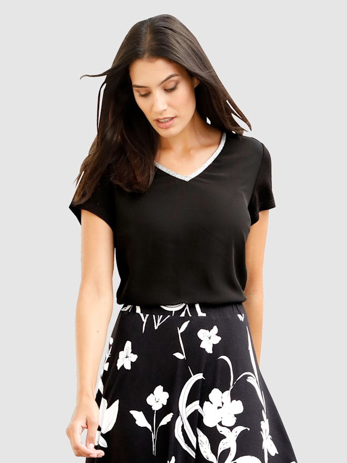 Laura Kent T-shirt d'aspect superposé, Noir