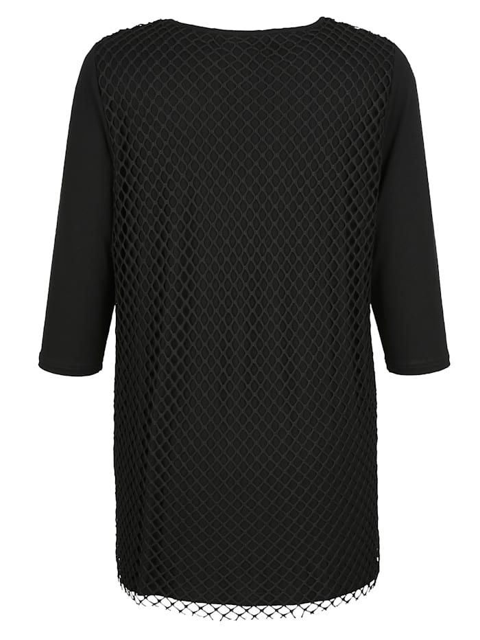 Longshirt Met laag van mesh