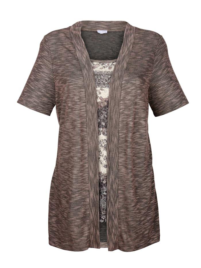 2-in-1 Shirt mit floralem Druck
