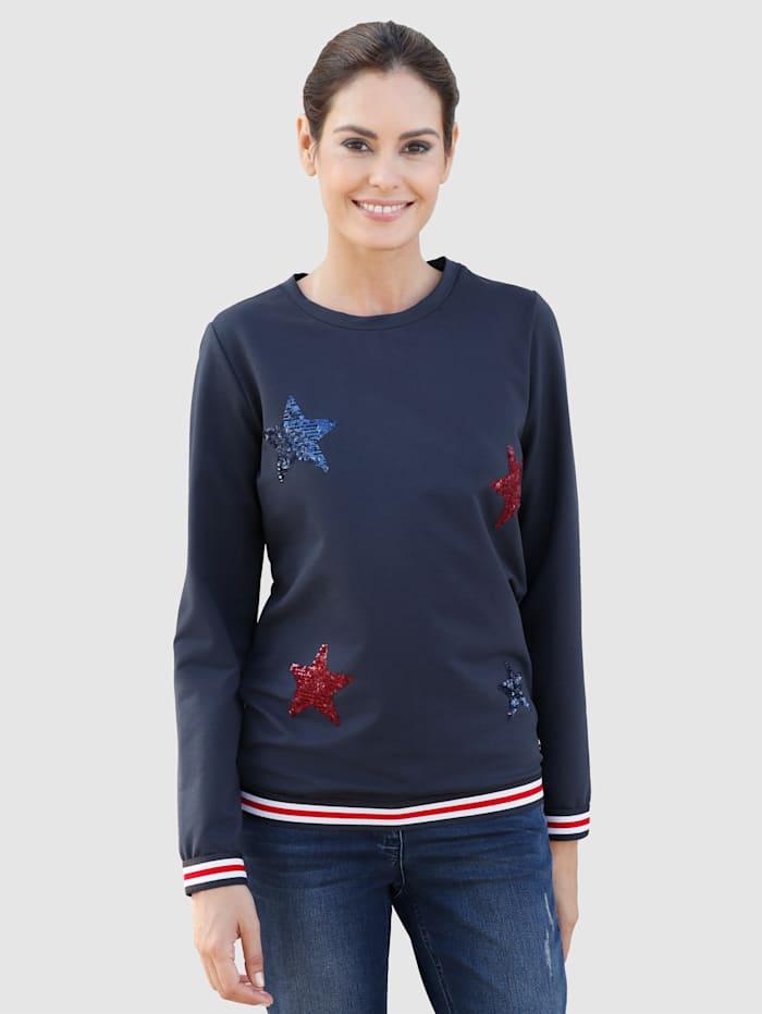 Sweatshirt met sterren van pailletten
