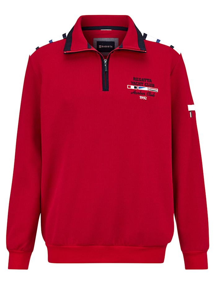 BABISTA Sweatshirt mit aufwändigen Details, Rot