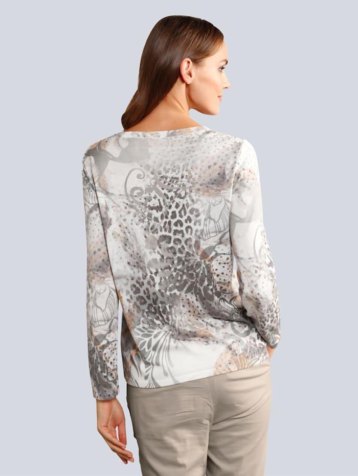 Pullover mit modischem allover Print