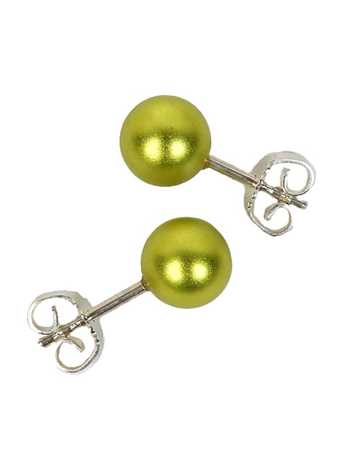 DeMarie Ohrstecker Metall 0,8cm Matt/Glanz, gelb
